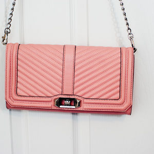 Rebecca Minkoff Quilted Chevron Pink Crossbody